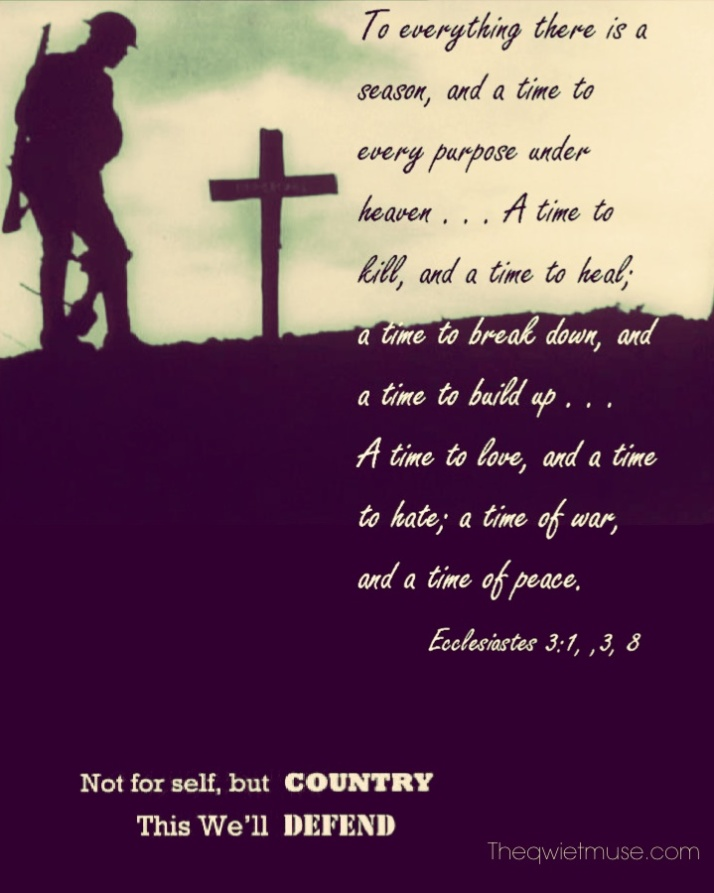 Not for self, but country . . .