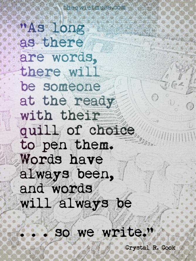 We Write by Crystal R. Cook
