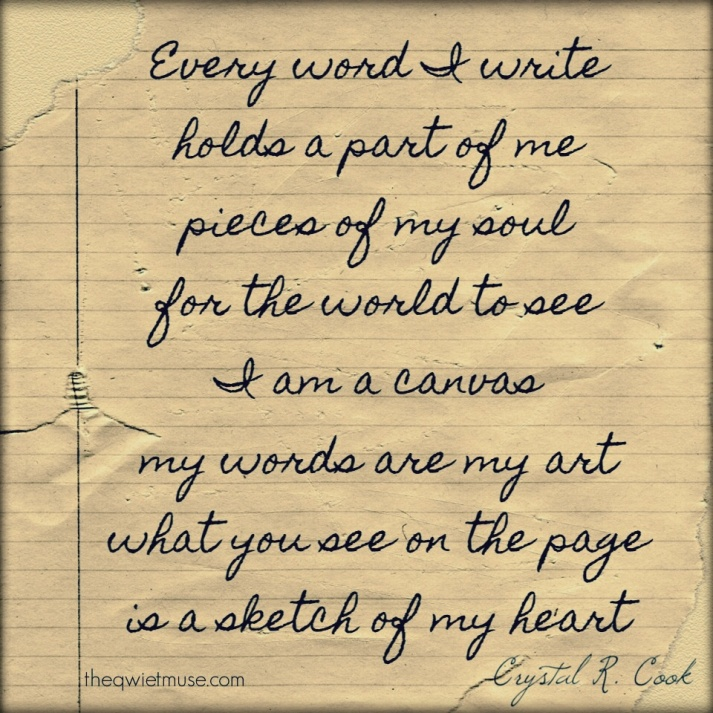 My Words by Crystal R. Cook