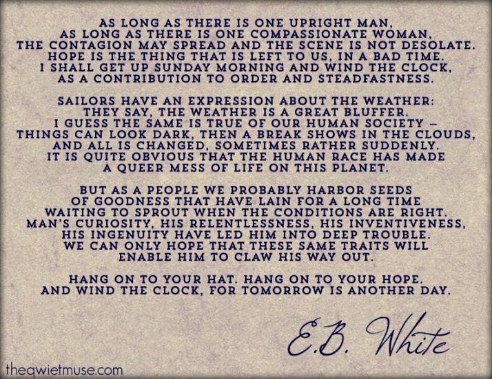 Words of hope - E.B. White