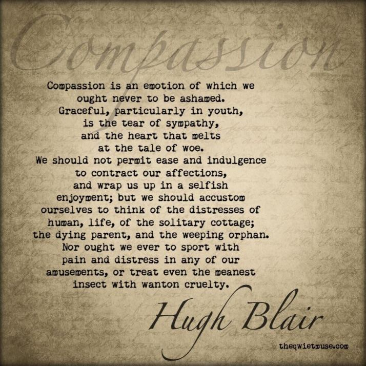 Hugh Blair - Compassion Quote