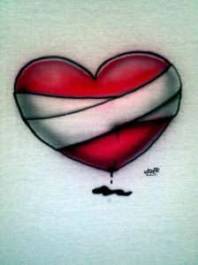 custom-airbrushed-bleeding-heart-t-shirt