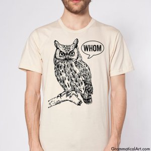 Grammar Owl Tee $22.00